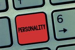 Personlighet för ordhandstiltext Affärsidé för särart för individ för känneteckenkvalitetsform fotografering för bildbyråer