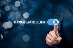 Personligt begrepp för dataskydd arkivfoto