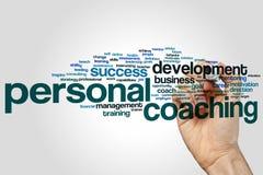 Personligt coachningordmoln arkivbilder