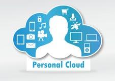 Personligt molnbegrepp Arkivbild