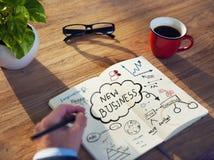 Personligt perspektiv av en Person Planning för Startup affär Royaltyfria Bilder