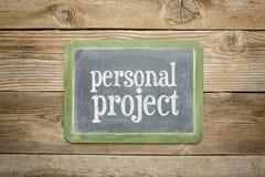 Personligt projekt Royaltyfri Bild