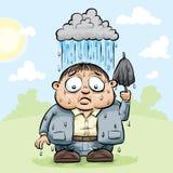 Personligt regnmoln Arkivbild