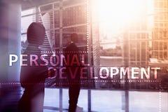 Personligt utvecklings- och tillväxtbegrepp av bakgrund för dubbel exponering arkivfoton