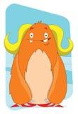 Personnage de dessin animé étranger de monstre de dame mignonne de Yeti Image stock