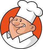 Personnage de dessin animé de chef illustration de vecteur