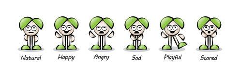 Personnage de dessin animé coloré drôle Images stock