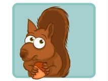 Personnage de dessin animé d'écureuil Images stock