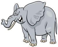 Personnage de dessin animé d'animal d'éléphant de gris africain Illustration de Vecteur