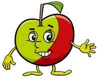 Personnage de dessin animé d'Apple illustration libre de droits