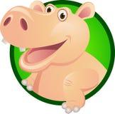 Personnage de dessin animé d'hippopotame Photos stock