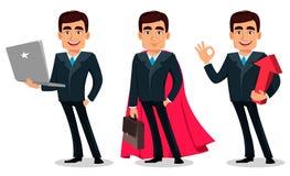 Personnage de dessin animé d'homme d'affaires dans le costume formel illustration libre de droits