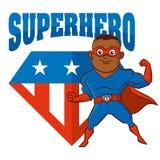Personnage de dessin animé d'homme de super héros Images stock