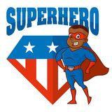 Personnage de dessin animé d'homme de super héros Photo libre de droits