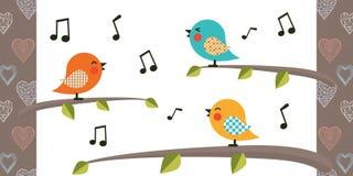 Personnage de dessin animé d'oiseau Image libre de droits