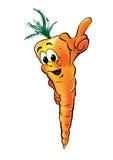 Personnage de dessin animé de carotte Photo libre de droits