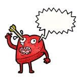 personnage de dessin animé de coeur frappé par amour Photo stock