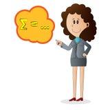 Personnage de dessin animé de femme d'affaires Image libre de droits