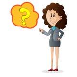 Personnage de dessin animé de femme d'affaires Photographie stock libre de droits