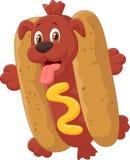 Personnage de dessin animé de hot-dog Photographie stock libre de droits