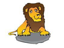 Personnage de dessin animé de lion Image stock