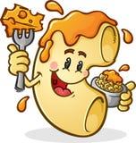 Personnage de dessin animé de macaronis au fromage Image libre de droits