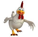 personnage de dessin animé de marche de poule Photos libres de droits