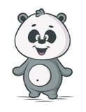 Personnage de dessin animé de panda Photographie stock