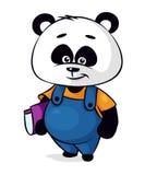 Personnage de dessin animé de panda Photos libres de droits