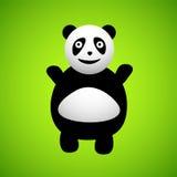 Personnage de dessin animé de panda Images libres de droits