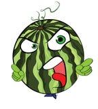 Personnage de dessin animé de pastèque Image libre de droits
