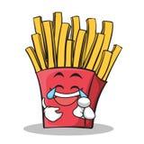 Personnage de dessin animé de pommes frites de visage de joie Photos libres de droits