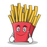 Personnage de dessin animé de pommes frites de visage de sourire Photo stock