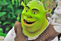Personnage de dessin animé de Shrek Photo stock