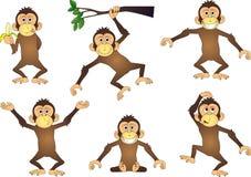 Personnage de dessin animé de singe Images stock