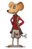 Personnage de dessin animé de souris. Illustration de vecteur. Images stock