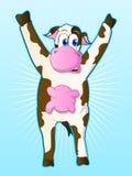 Personnage de dessin animé de vache Photo libre de droits