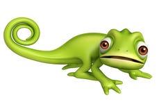 Personnage de dessin animé drôle de caméléon mignon Images libres de droits