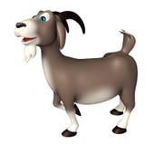 Personnage de dessin animé drôle de chèvre mignonne Photographie stock