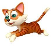 Personnage de dessin animé drôle de chat d'amusement Photographie stock
