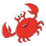 Personnage de dessin animé drôle de crabe Photographie stock libre de droits