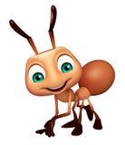 personnage de dessin animé drôle de fourmi mignonne Photo stock