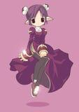 Personnage de dessin animé femelle de prêtre de Ragnarok Onli Photo libre de droits