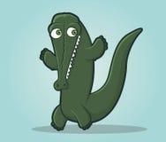 Personnage de dessin animé heureux d'alligator Photos stock