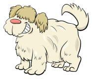 Personnage de dessin animé hirsute de chien de moutons illustration stock