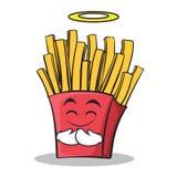 Personnage de dessin animé innocent de pommes frites de visage Photo stock