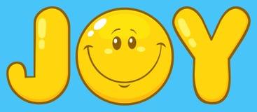 Personnage de dessin animé de Joy Yellow With Emoji Face illustration libre de droits