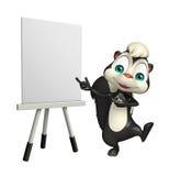 Personnage de dessin animé mignon de mouffette avec le panneau de chevalet Photographie stock libre de droits