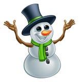 Personnage de dessin animé de Noël de bonhomme de neige Illustration Stock