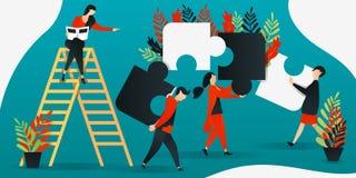 personnage de dessin animé plat illustration de vecteur pour la construction, direction, travail d'équipe, affaires les gens remo illustration de vecteur